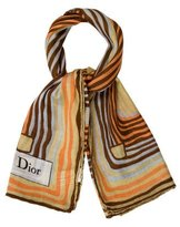 Christian Dior Multicolor Printed Scarf