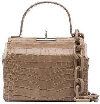 gu_de Chord croc-effect top-handle bag
