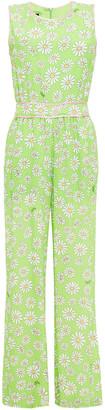 Boutique Moschino Floral-print Crepe Wide-leg Jumpsuit