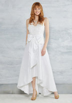 City Hall Couture Maxi Dress in White in 4