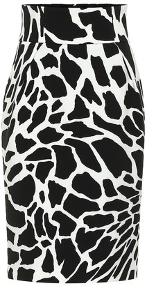 Alexandre Vauthier Printed stretch-jersey pencil skirt