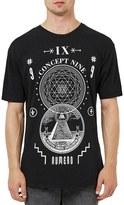 Topman Men's Longline Graphic T-Shirt