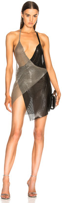 Fannie Schiavoni Metal Mesh Dress in Silver & Black | FWRD