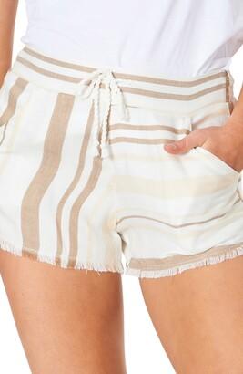 Rip Curl Sol Stripe High Waist Cutoff Shorts