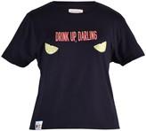 Blonde Gone Rogue Drink Up Vegan T-Shirt In Black