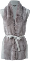 N.Peal furry detail cardi-coat