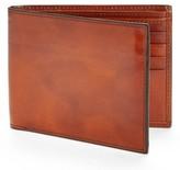 Bosca Men's Id Flap Leather Wallet - Brown