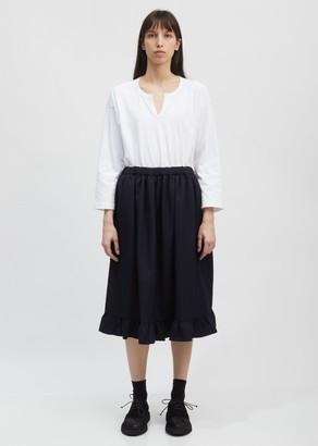 COMME DES GARÇONS GIRL Ruffled Hem Drawstring Skirt