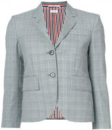Thom Browne Classic Single Breasted Sport Coat In School Uniform Prince Of Whales Wool Twill