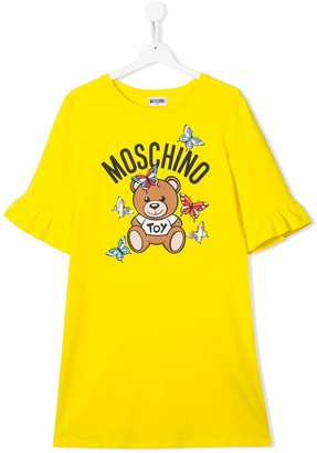 MOSCHINO BAMBINO TEEN teddy bear print T-shirt dress