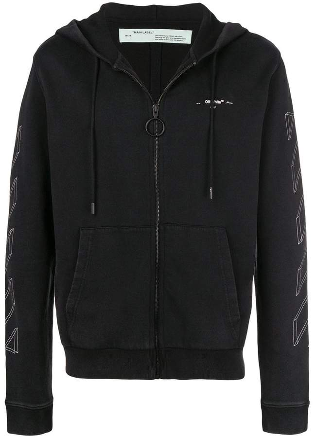 Off-White 3D line zip hoodie