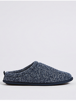 M&S Collection Knitted Slip-on Mule Slippers with FreshfeetTM