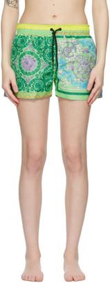 Versace Underwear Multicolor Barocco Mosaic Swim Shorts