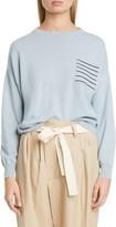 Brunello Cucinelli Monili Pocket Cashmere Sweater