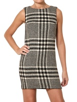 Space Houndstooth Wool Dress