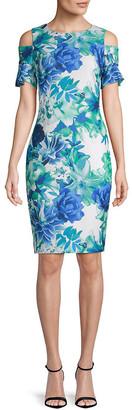Calvin Klein Floral Cold-Shoulder Dress