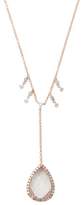 Meira T 14K Rose Gold, White Topaz & 0.36 Total Ct. Diamond Pendant Necklace