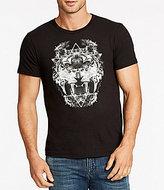 William Rast Graphic Owl Lion Short-Sleeve Crewneck Graphic Tee