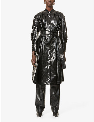 AKIRA NAKA Petra oversized cotton trench coat