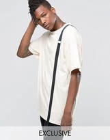 Reclaimed Vintage Oversized T-Shirt With Strap Detail