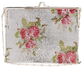 Paco Rabanne Iconic 1969 Rose-print Chainmail Cross-body Bag - Womens - Silver Multi