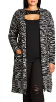 City Chic Plus Size Women's Space Dye Hooded Cardigan