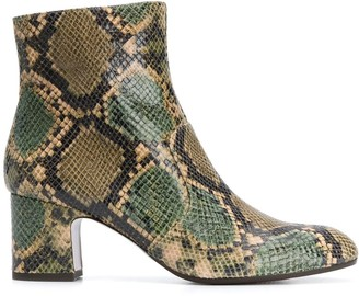 Chie Mihara 65mm Snakeskin Effect Boots