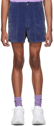 ERL Blue Corduroy Shorts