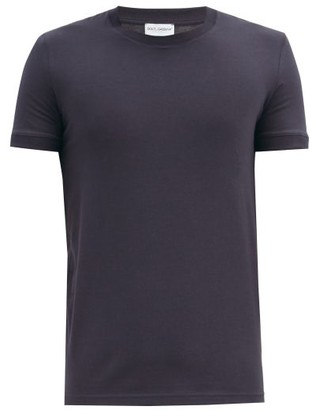 Dolce & Gabbana Logo-tab Stretch-cotton Pyjama T-shirt - Navy