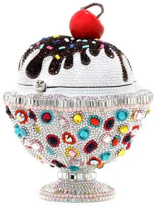 Judith Leiber Couture Ice Cream Sundae Sprinkles Crystal Clutch