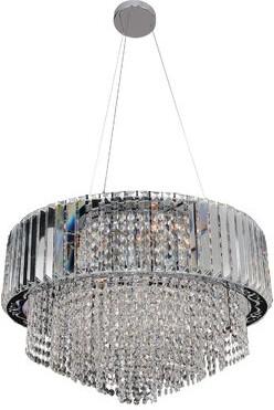 Allegri By Kalco Lighting Adaliz 12-Light Unique / Statement Drum Chandelier by Kalco Lighting Crystal: Firenze Clear