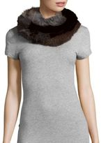 Jocelyn Multicolored Rabbit Fur Infinity Scarf