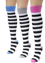 Muk Luks 3-Pack Pointelle Knee High Socks
