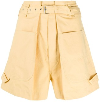 Isabel Marant pleated waist wide-leg shorts
