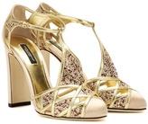 Dolce & Gabbana Crystal-embellished Satin And Leather Pumps