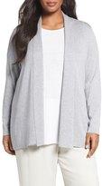Eileen Fisher Tencel ® Lyocell Blend Shawl Collar Cardigan (Plus Size)
