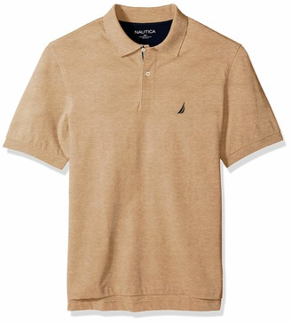 Nautica Men's Tall Short Sleeve Solid Deck Polo Shirt