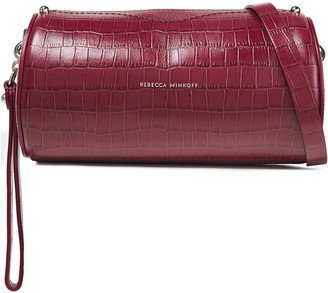 Rebecca Minkoff Barrel Croc-effect Leather Shoulder Bag