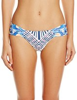 Mara Hoffman Women's Peacocks Side Ruched Bikini Bottom