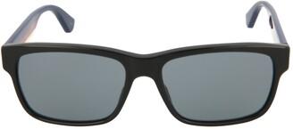 Gucci Striped Square-Frame Sunglasses
