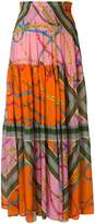 Pinko printed maxi skirt