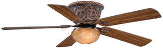 Vaxcel Corazon Traditional 52 inch Flush Mount Bronze LED Ceiling Fan w/ Ligh