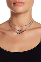 Stephan & Co Dainty Charm & Stone Detail Multi Layer Necklace