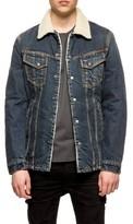 Nudie Jeans Men's Lenny Fleece Lined Denim Jacket