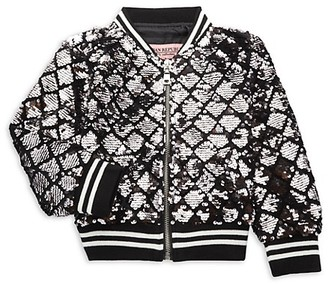 Urban Republic Little Girl's Sequin Bomber Jacket