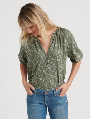 Lucky Brand Paisley Printed Henley