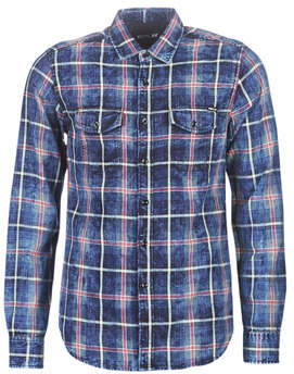 Replay M4987-000-52136-010 men's Long sleeved Shirt in Blue