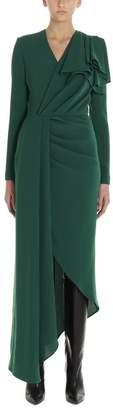 Elie Saab Long Sleeved Draped Split Dress
