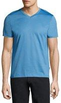BOSS Cotton V-Neck T-Shirt, Light Blue