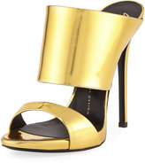 Giuseppe Zanotti Coline Slide Dress Sandal, Shooting Oro
